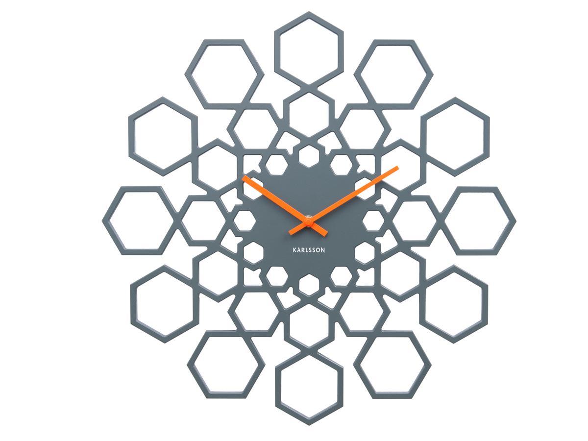Nástěnné hodiny Sunshine Hexagon 48 cm Karlsson  dc253c8601