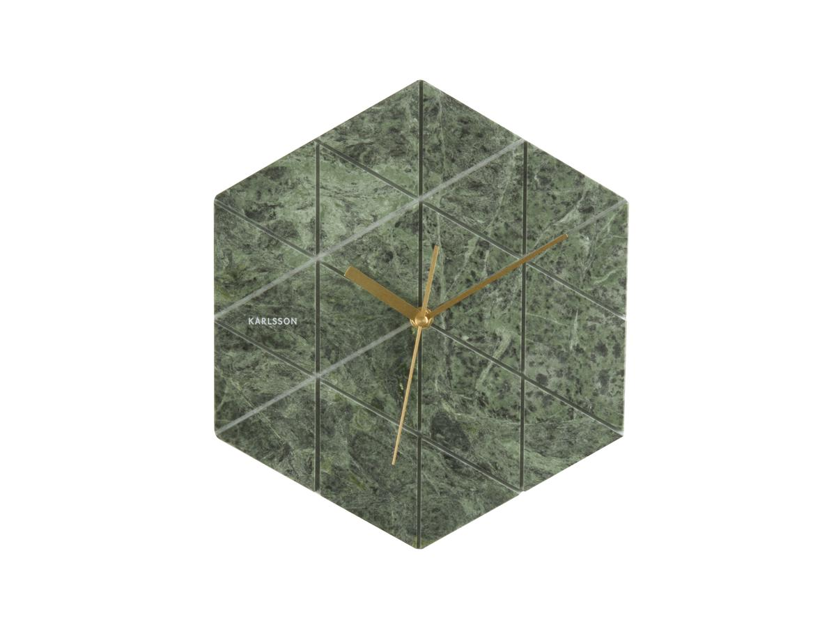 Nástěnné hodiny Marble Hexagon 28 a32914f381