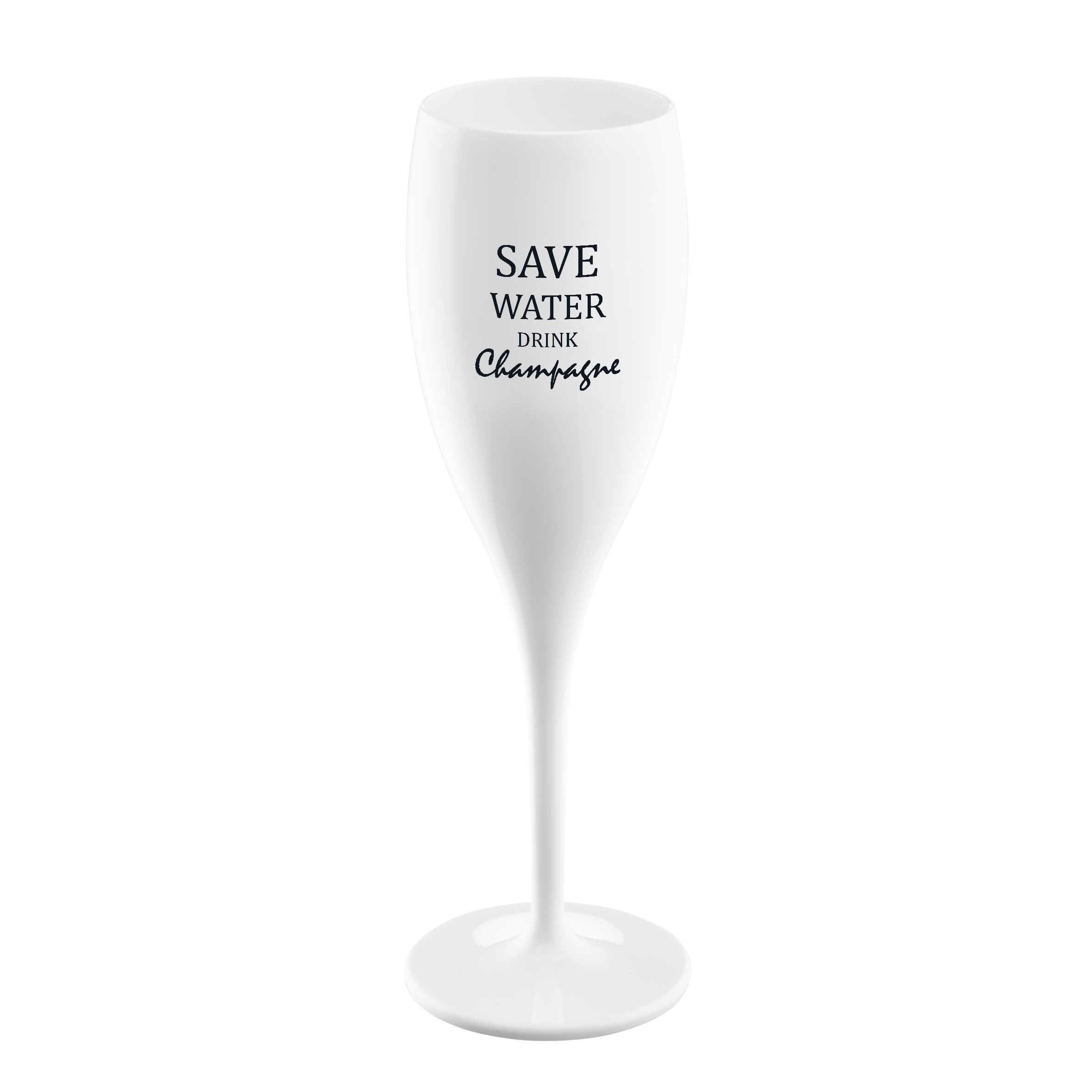 CHEERS NO.1 SAVE WATER DRINK CHAMPAGNE, sklenice na sekt 100ml KOZIOL