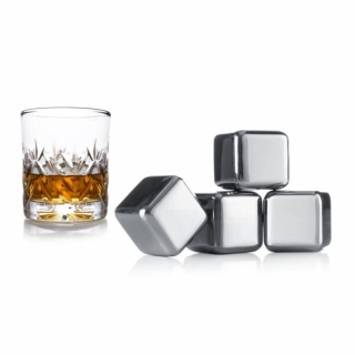 Whiskey stones, 4 ks VacuVin